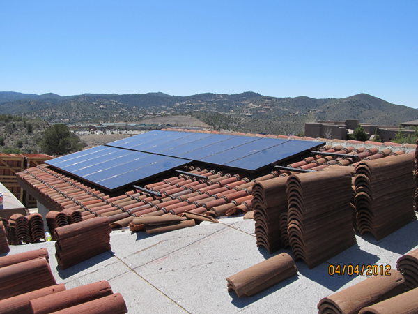 One of the home's solar arrays, facing west.