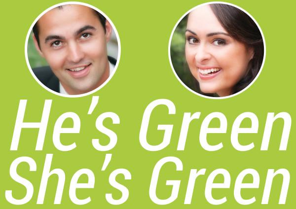 He's Green She's Green