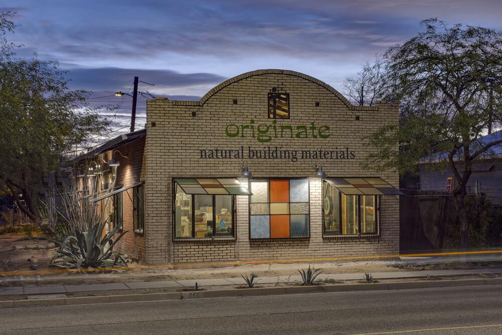Tucson-based showroom, Originate building exterior