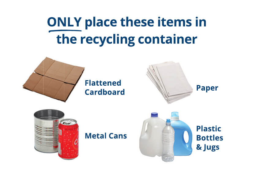 acceptable items that can be recycled
