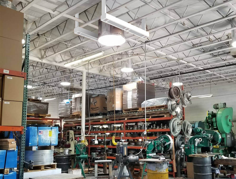 commercial application of solar tubes in warehouse