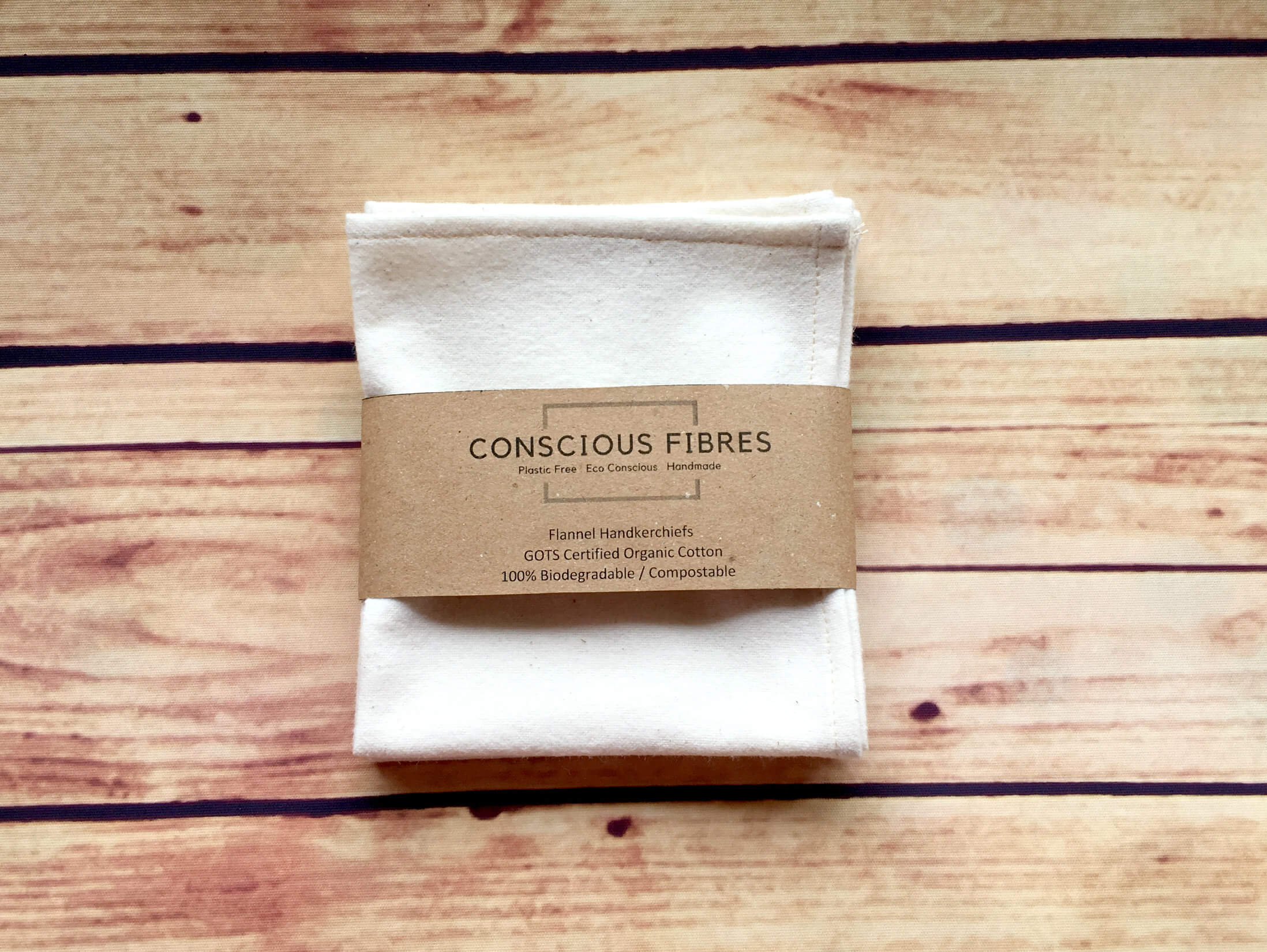 Conscious Fibres flannel handkerchiefs