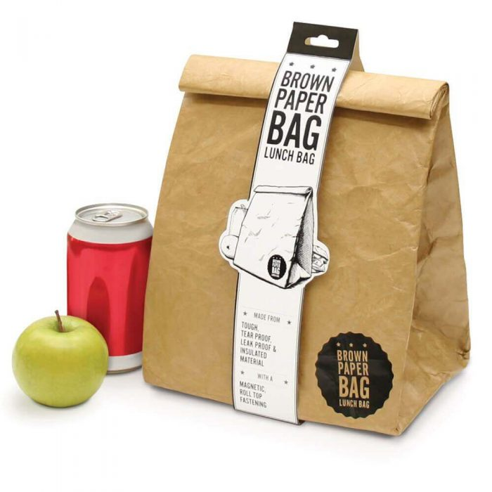 Brown Paper Reusable Lunch Bag