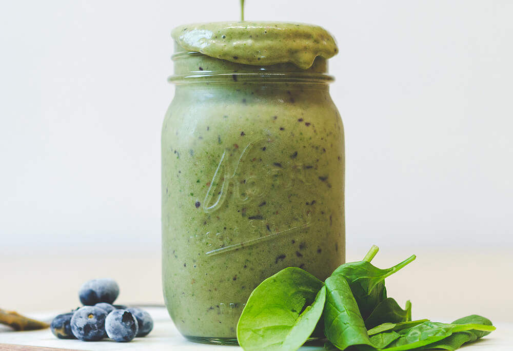 Green Smoothie with Olive Oil