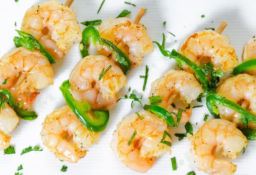 Grilled Jalapeño Lime Shrimp Kabobs