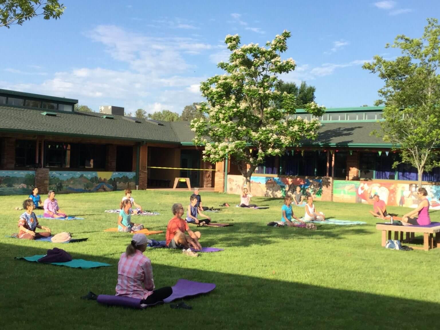 Outdoor Yoga Green Scenes