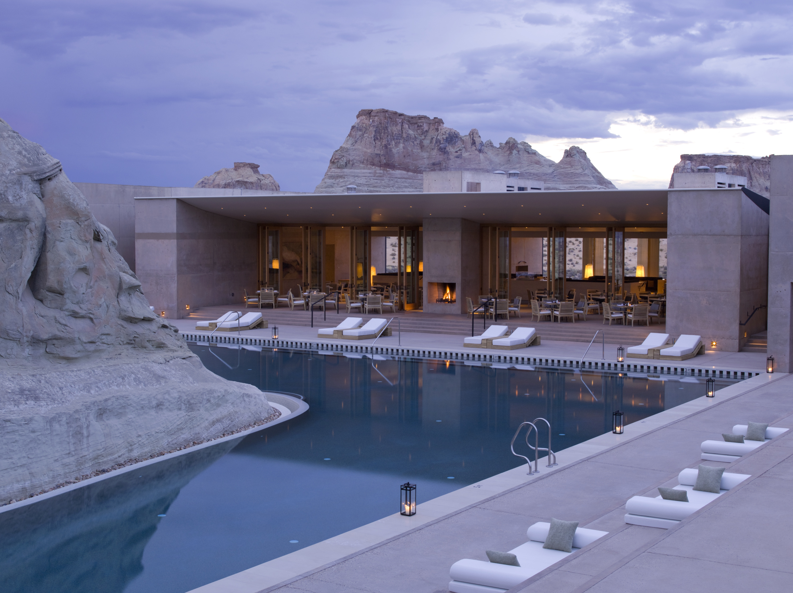 Amangiri, USA - Pavilion & Swimming Pool Dusk