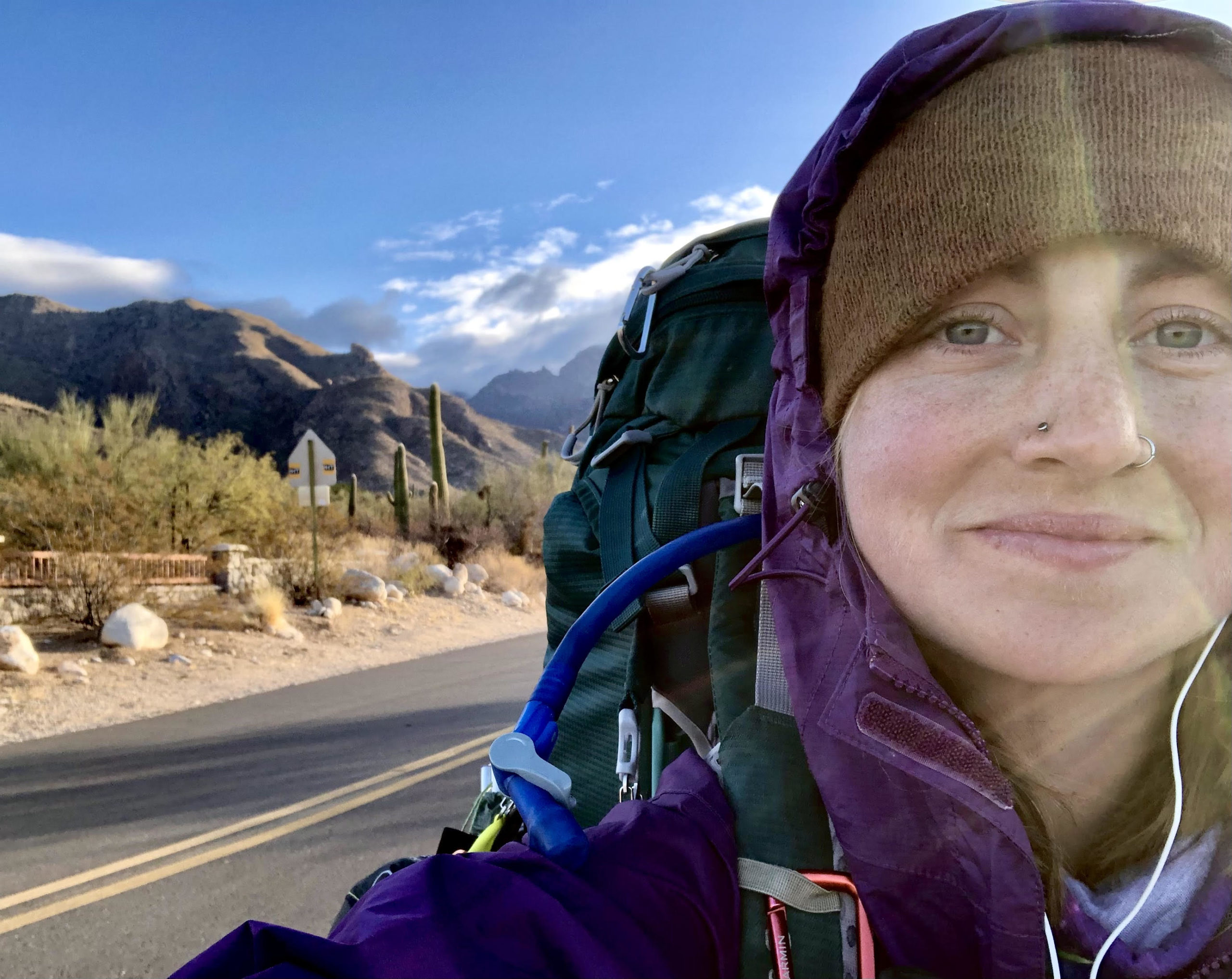 Hannah Bacon on her walk to address climate change.