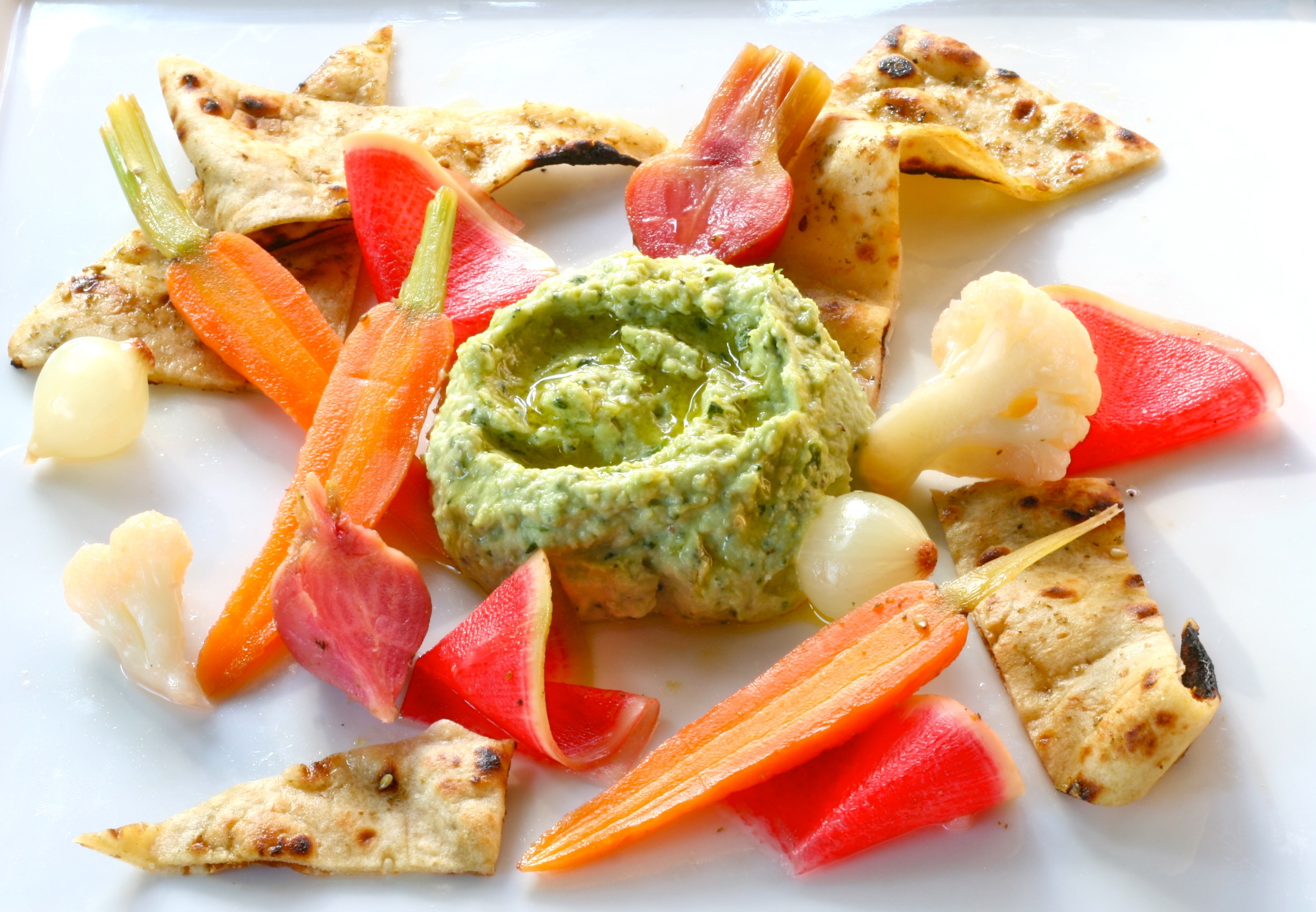 Cilantro Jalapeño Edamame Hummus & Roasted Beet Salad - Green Living