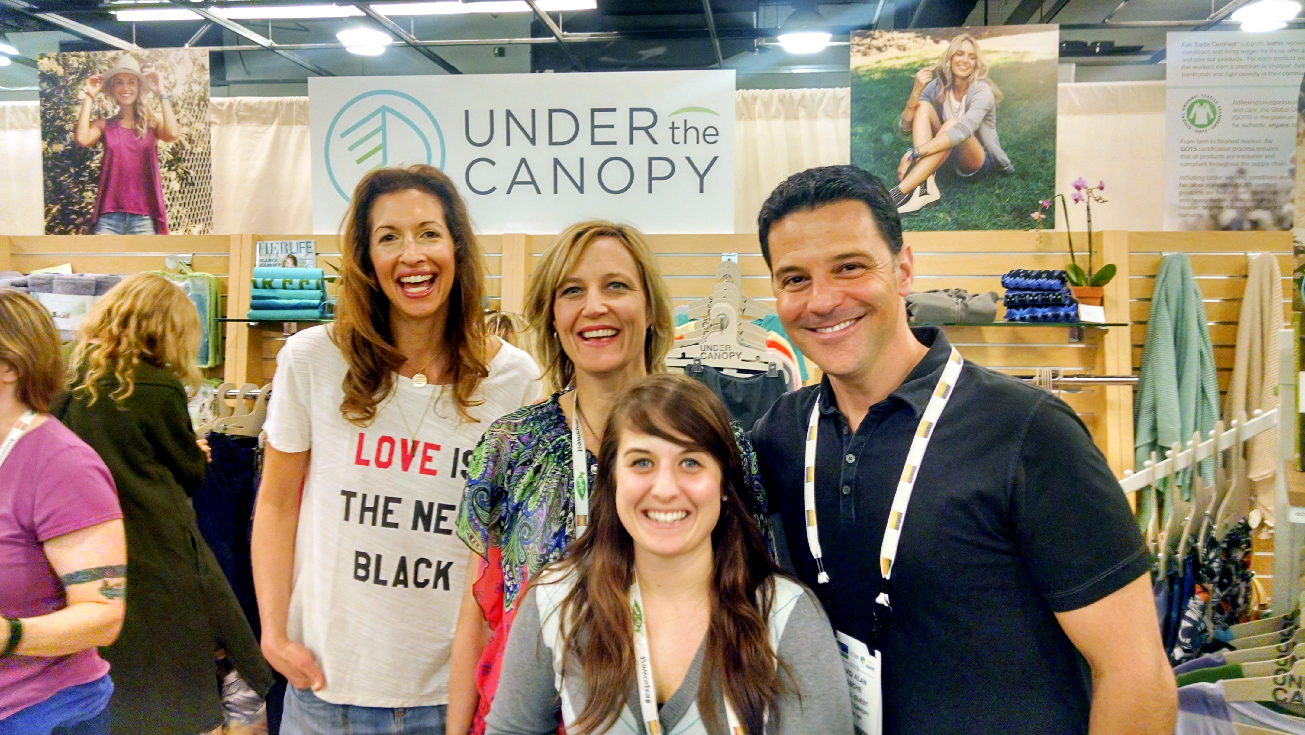 Dorie and Amanda met Alysia Reiner and her husband David Alan Basche at Natural Products Expo West