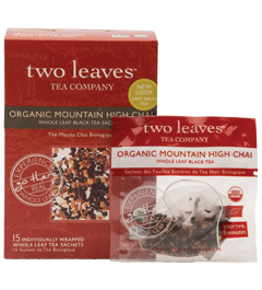 Two Leaves Tea Company Organic Mountain High Chai