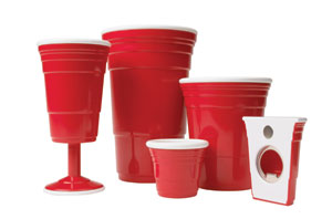 Reusable red party cups