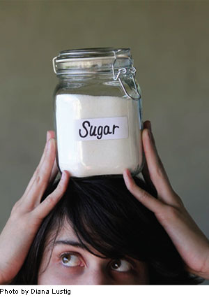 Sugar on a person's head