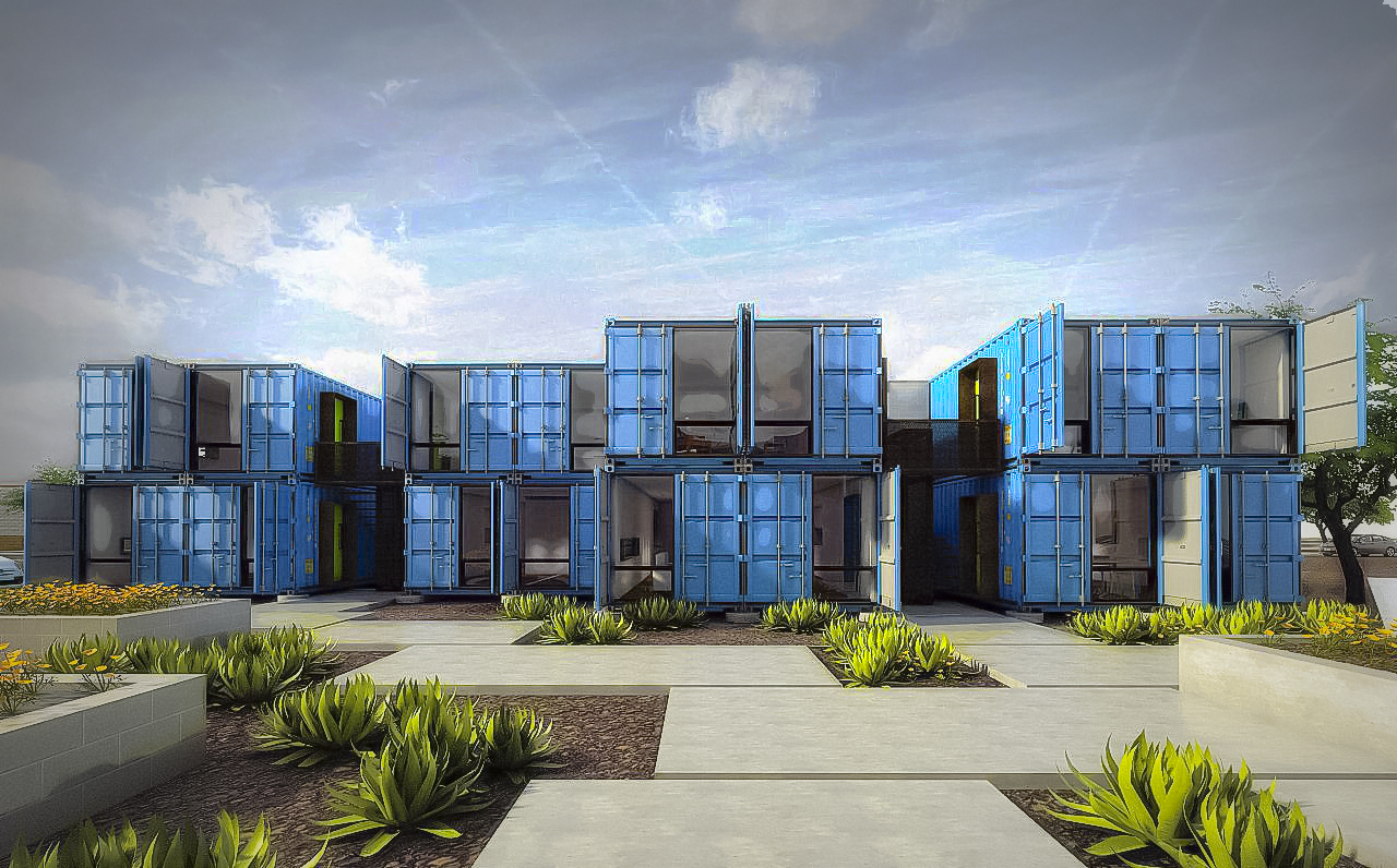 Shipping Container Apartments - Green Living